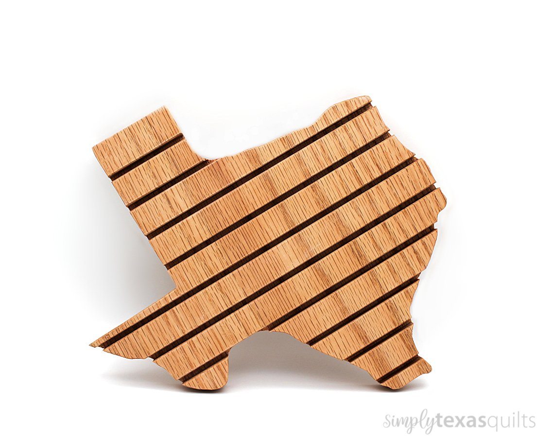 Texas Shaped Wooden Ruler Holder