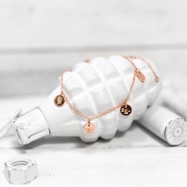 Brass and Unity-Multi Charm Bracelet