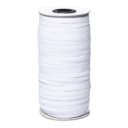 White Elastic 6mm (1/4) (By the Meter)