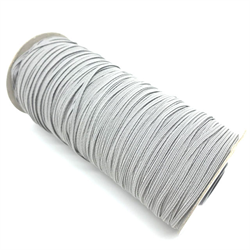 3mm Grey Elastic (By the meter)