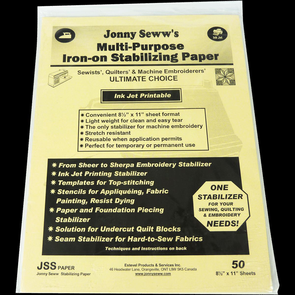 Jonny Seww Stabilizing Paper