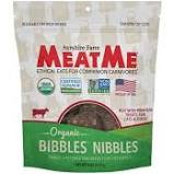 MeatMe Bibbles Nibbles Organic Beef Jerky Dog Treats, 4oz