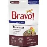 Bravo! Bonus Bites Bison Liver Freeze-Dried Dog Treats, 3-oz bag