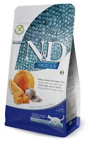 Farmina Adult N&D Ocean Cat Food Dry - Herring ,Pumpkin & Orange 3.3lb