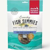 The Honest Kitchen Fish Sammies Crunchy Dog Treats- Cod, Pears & Bluberries 3.5 oz