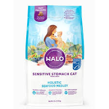 Halo Sensitive Stomach Cat -Seafood Medly 6lb
