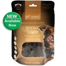 Get Naked Senior Care  Dog Treats - Cranberries,Carrot,Salmon 7oz