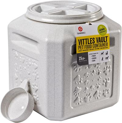 Petmate Vittles Vault Pawprint Outback Food Storage Container 25lbs