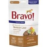 Bravo! Bonus Bites Venison Liver Freeze-Dried Dog Treats, 3-oz bag
