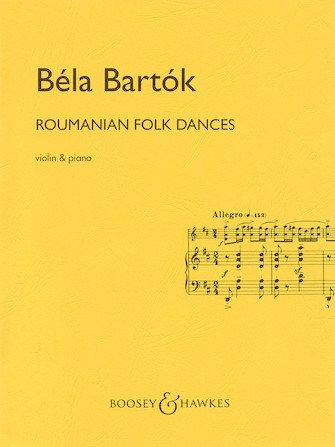 Bartok Roumanian Folk Dances Violin & Piano