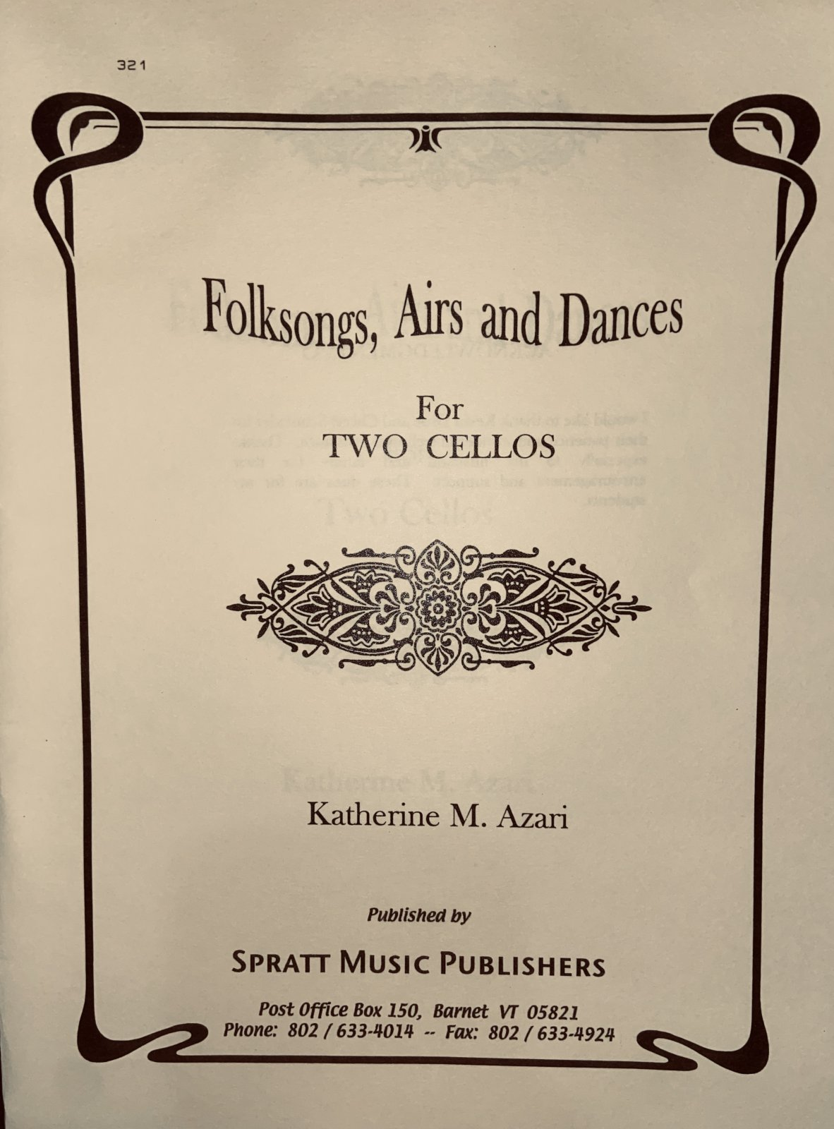 Folksongs, Airs and Dances for Twe Cellos - Azari