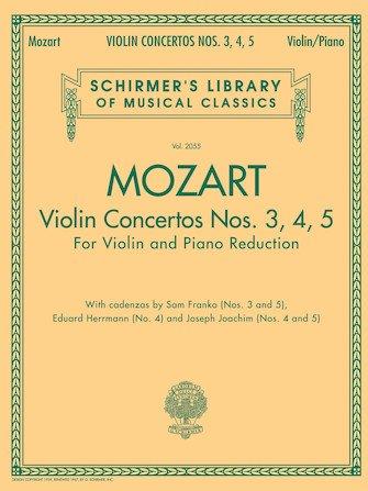 Mozart Violin Concertos Nos. 3,4,5