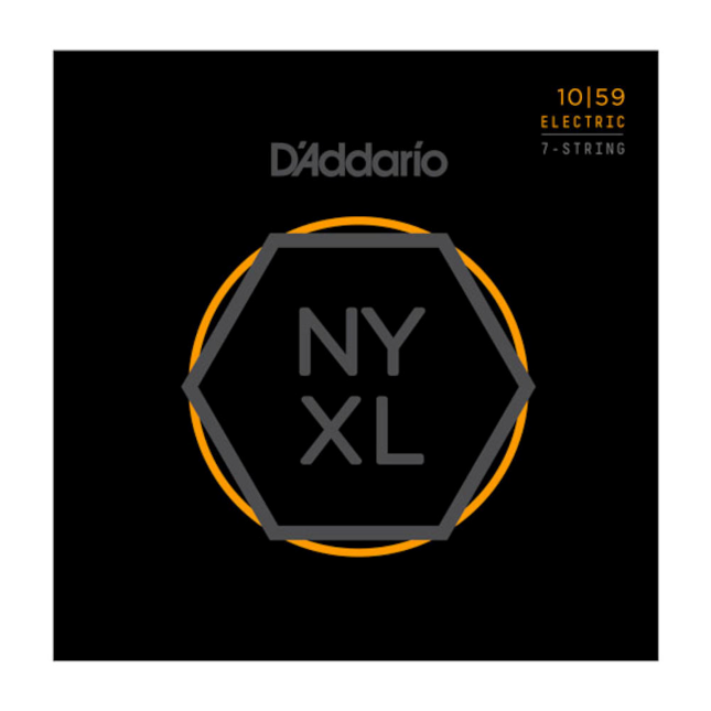 D'Addario NYXL1059 Nickel Wound 7-String Electric Guitar Strings, Regular Light,...