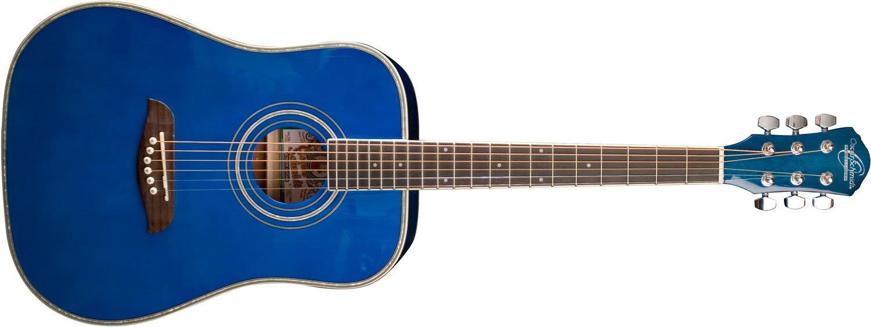 Oscar Schmidt OG1TBL Three Quarter Size Guitar-Blue