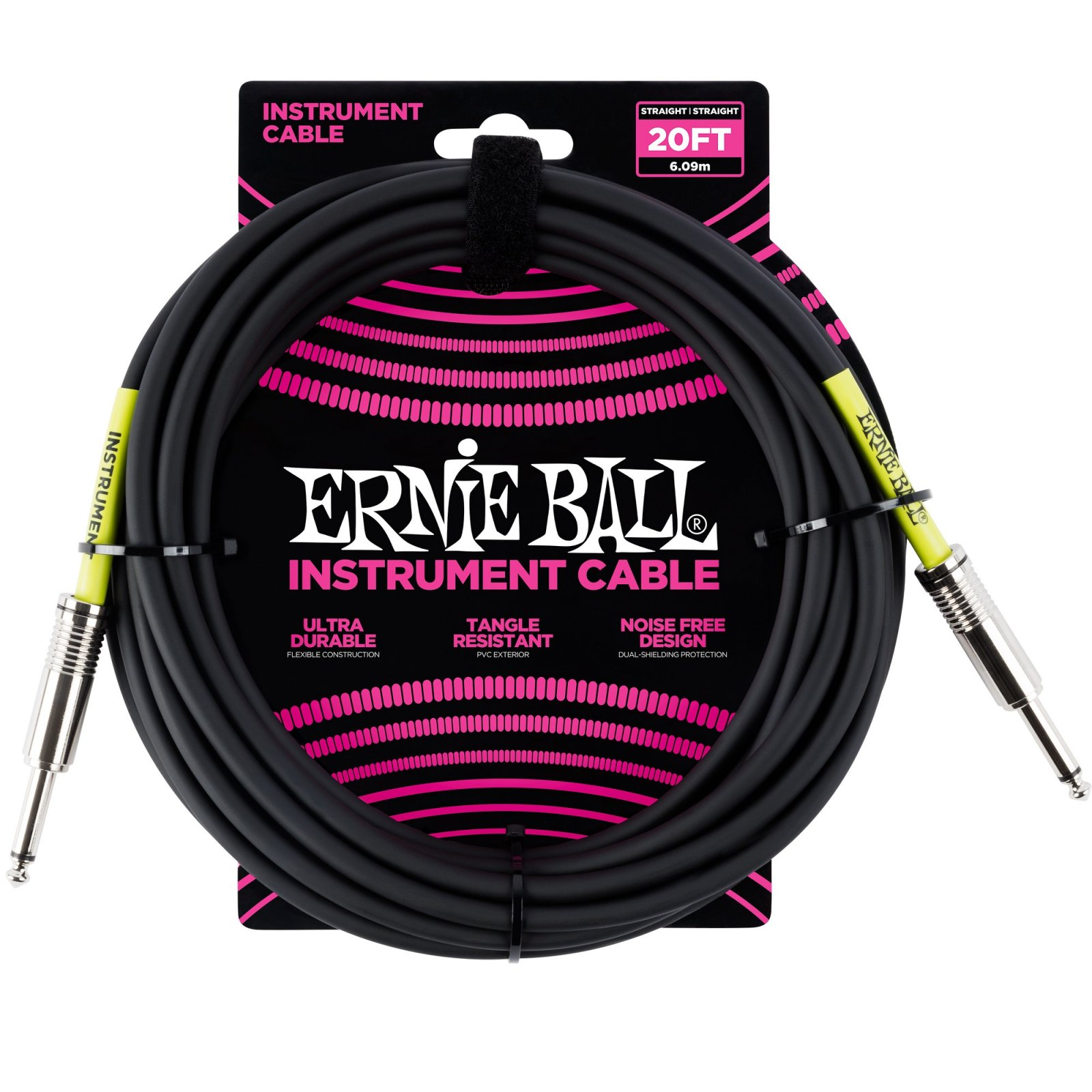 Ernie Ball Instrument Cable 20'