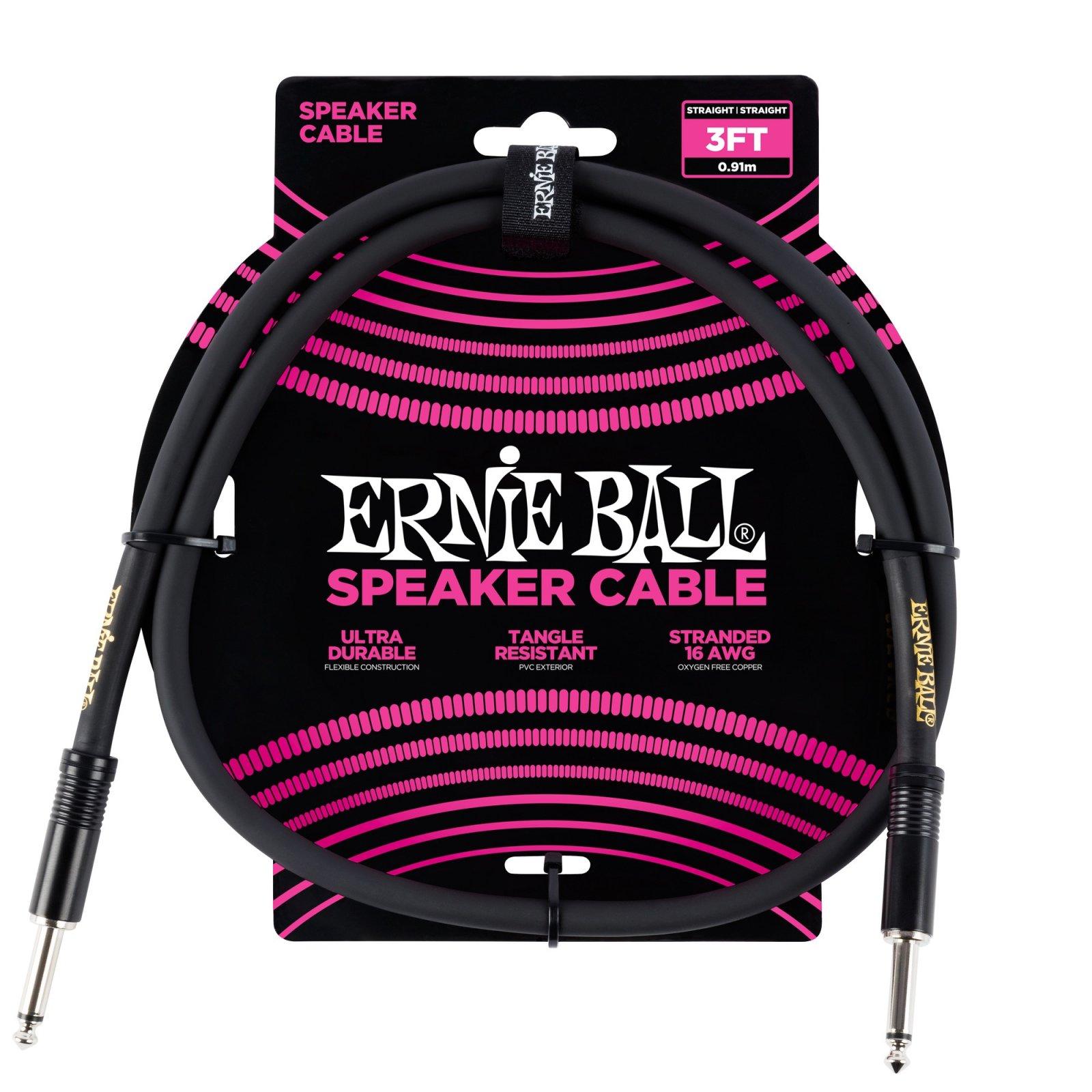 Ernie Ball  Speaker Cable 3ft