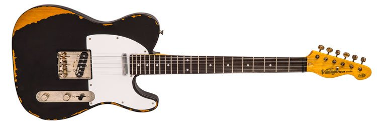 Vintage Distressed Black 62 Tele Style