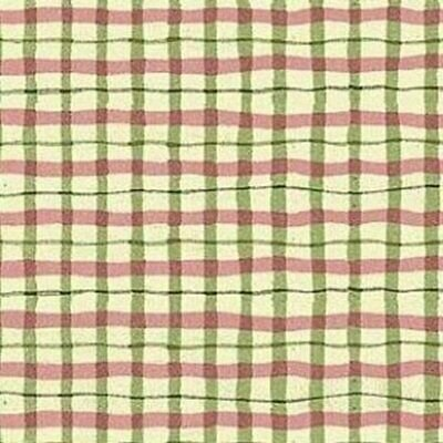 F-CB-NOR-ROS-02 Northcott-Rose Garden-Tea For Two-02-51 - Green/Purple plaid
