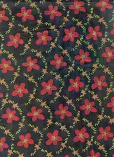 F-CB-CWK-SHA-16 Clothworks-Shasta Pr-16-Shasta Red (Black w/ Red flowers & stars)