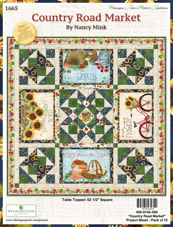 Country Road Market (CRM) - Table Topper Kit 52-1/2 sq