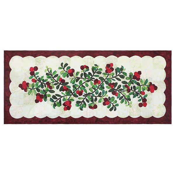 Hoffman California-Cranberry Table Runner Kit