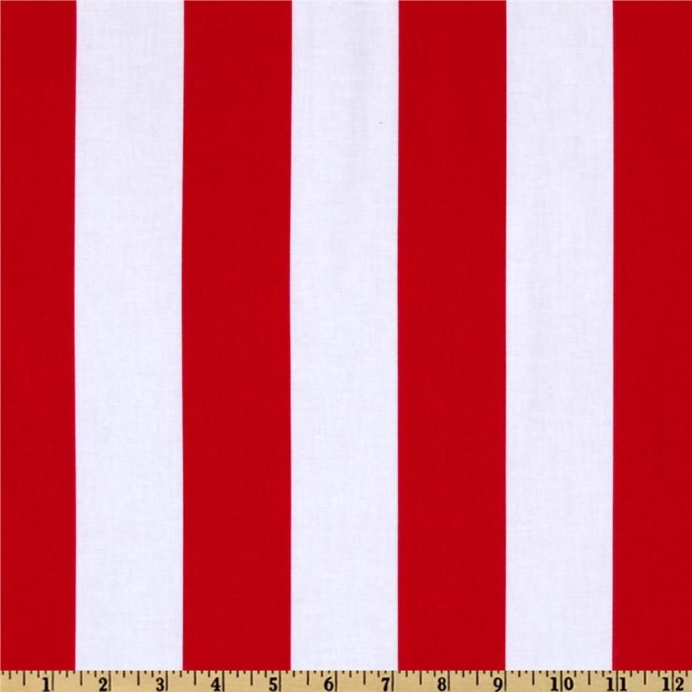 F-CB-MIM-PRO-44 Michael Miller-Promos-44-Two by Two Stripes - Red/White