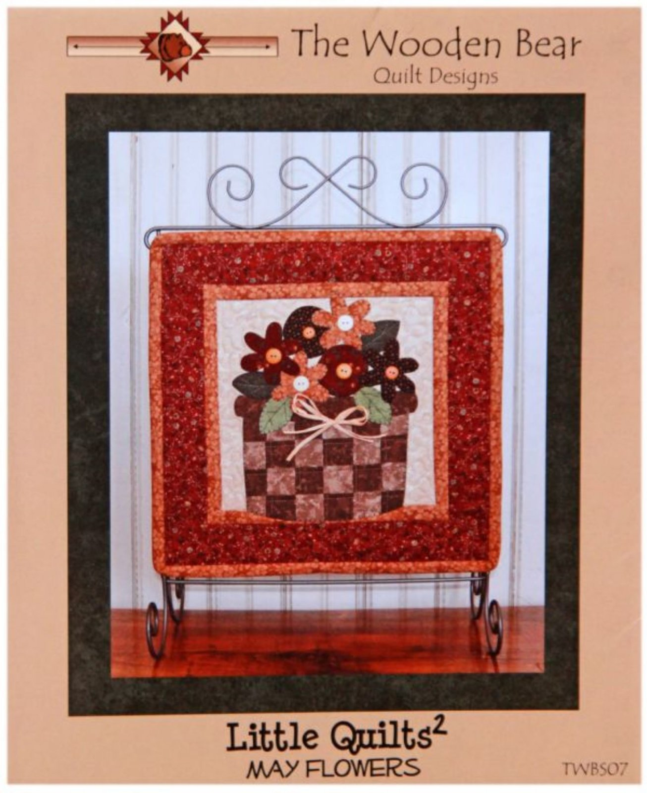 F-KT-BZB-LIT-03 Busy Bee Quilts-Little Quilts Squared-03-May Flowers (w/ Pattern by The Wooden Bear)