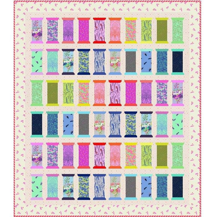 HomeMade Spool for Love Quilt Kit - Tula Pink