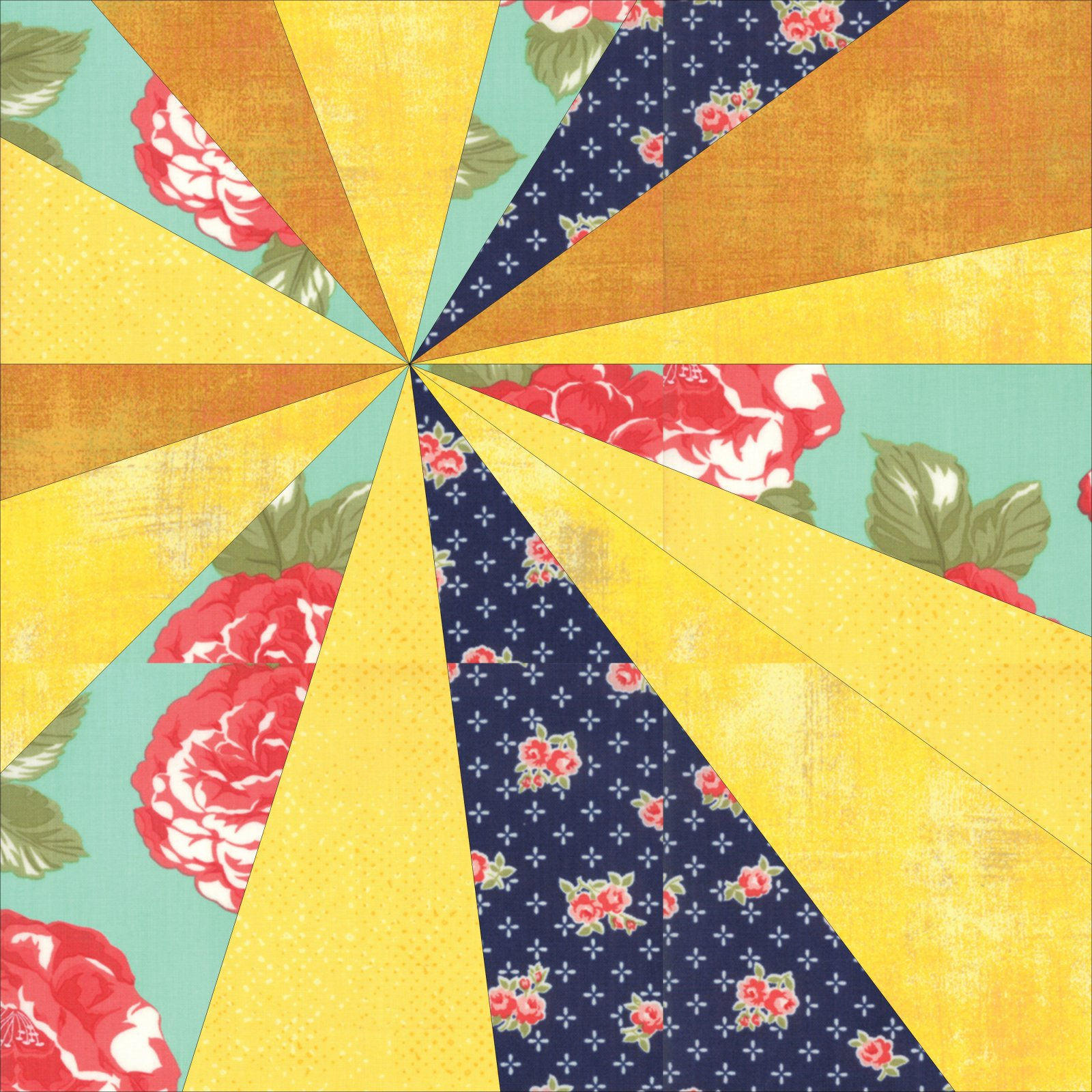 Summer Sunburst Block