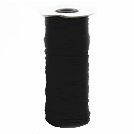 Flat Black Elastic - 1/8 wide - TGQ044