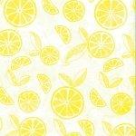 F-CB-HCA-BBK-08  Hoffman California-BBK - Bali Batik-08-Citrine Yellow w/ Citrus Print
