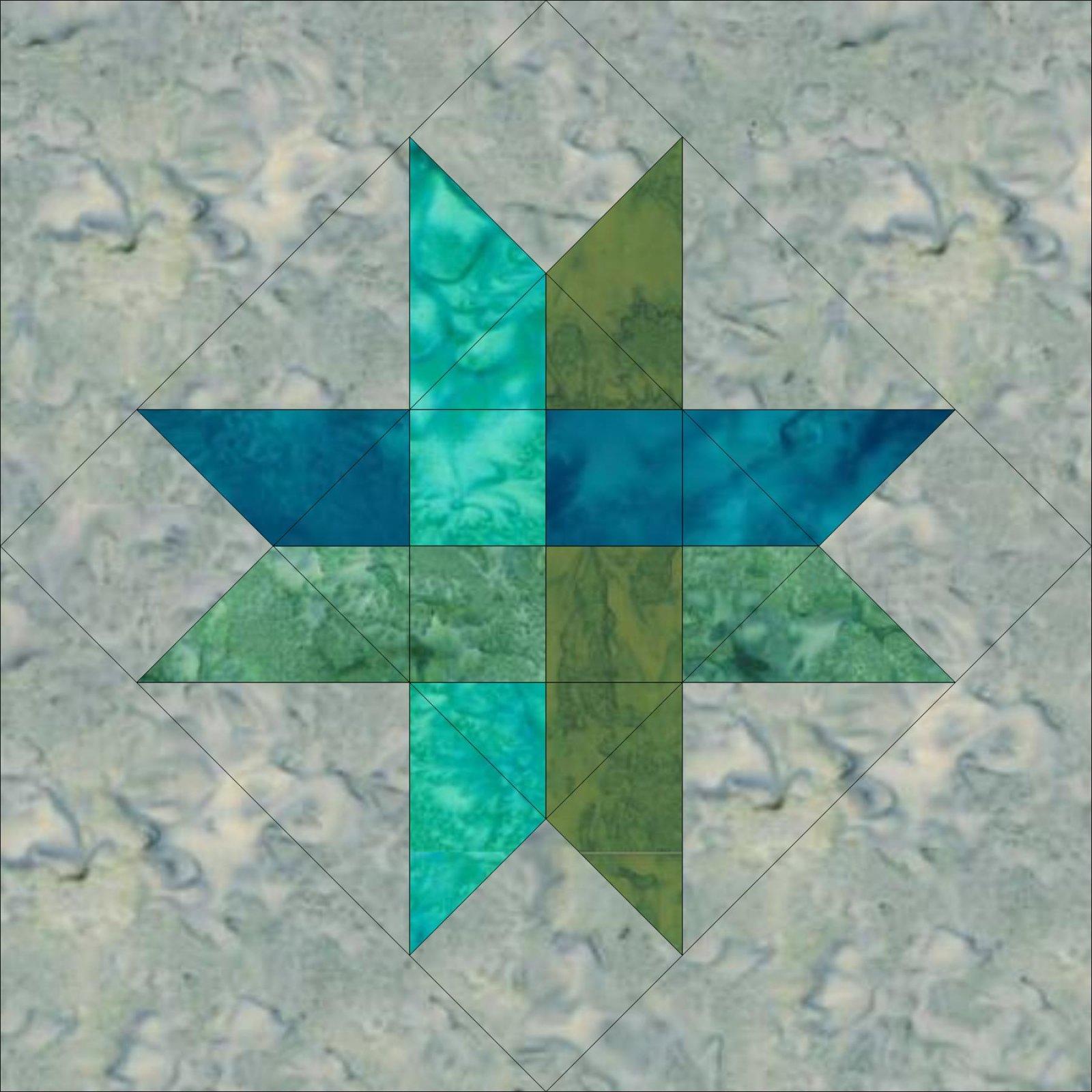 SS19-08-B Woven Star Pattern - Batik (Digital Download)