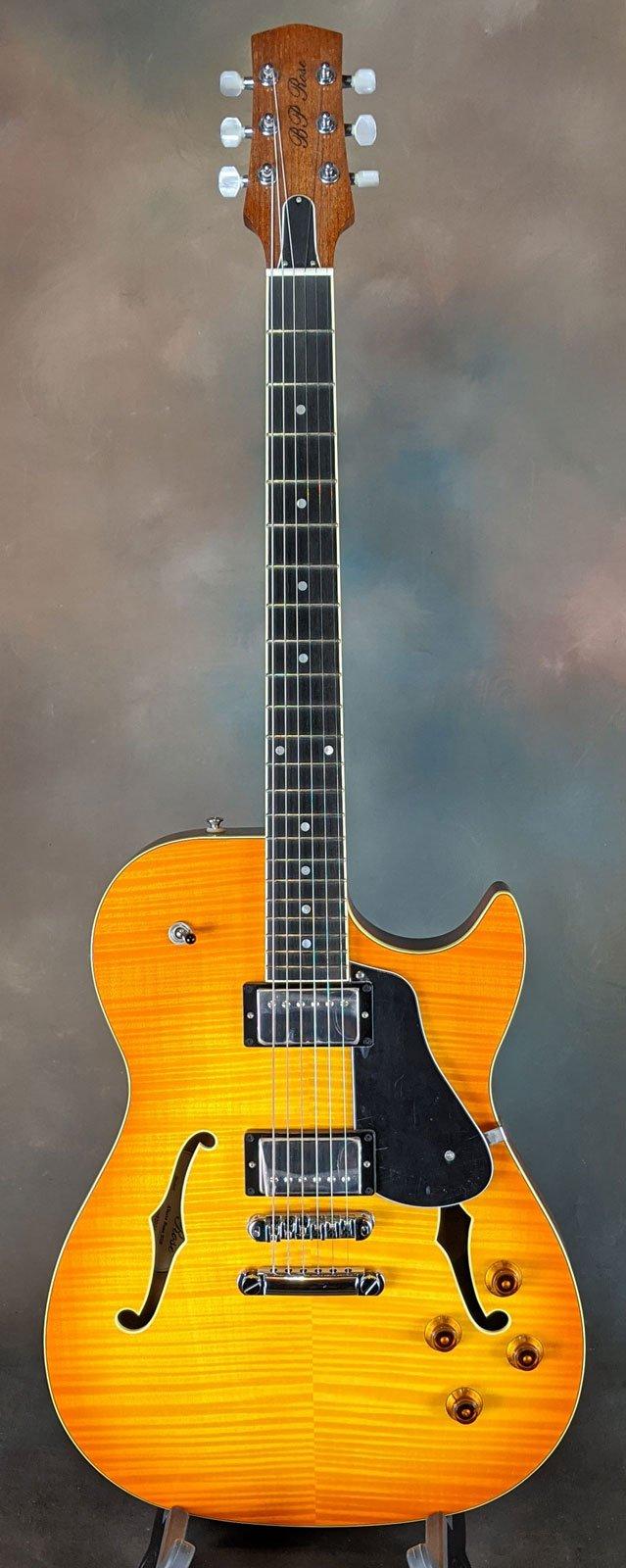 BP Rose Alexis Semi-hollowbody Electric Guitar, Honey Sunburst