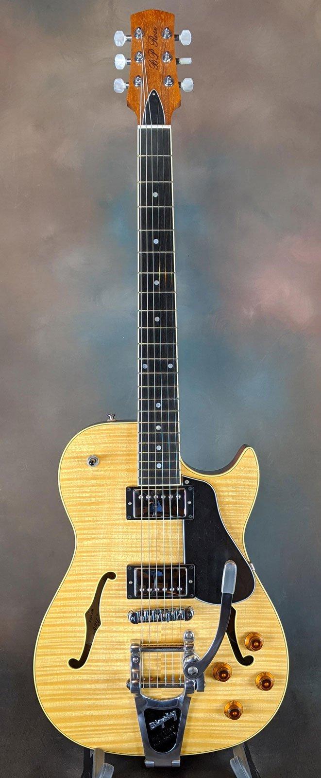 BP Rose MAX135 NAT Semi-Hollow Electric Guitar, Natural Finish