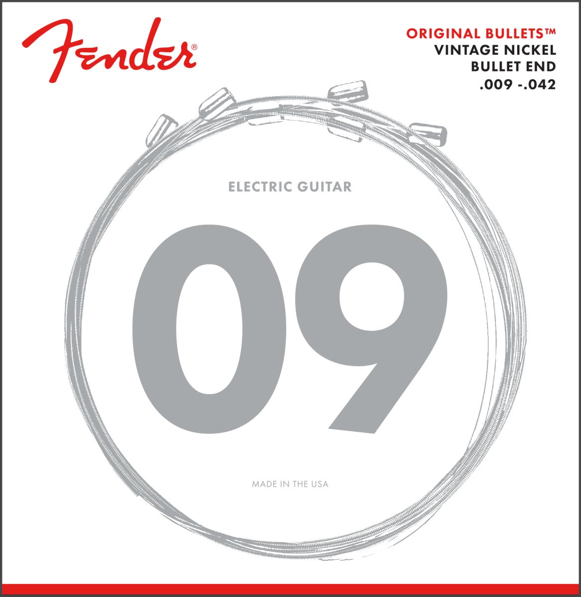 Fender 3150 Original Bullets - Pure Nickel Electric Guitar Strings