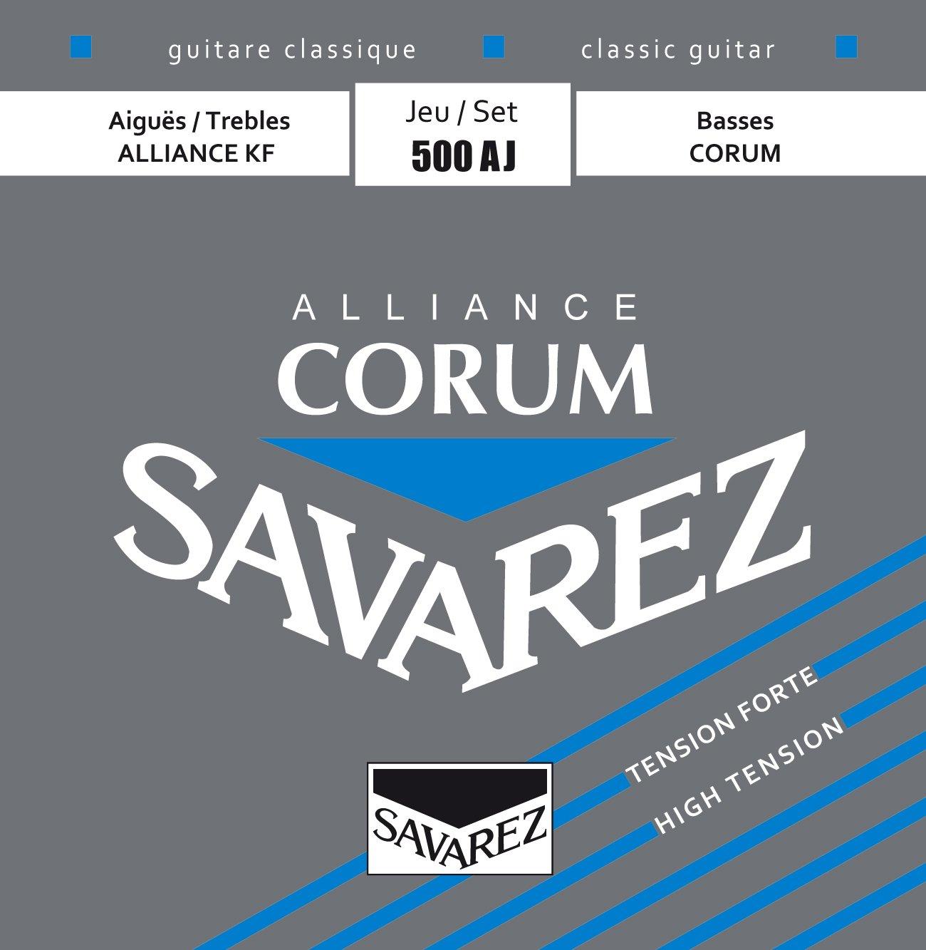 Savarez  Corum Nylon basses, Alliance Carbon trebles