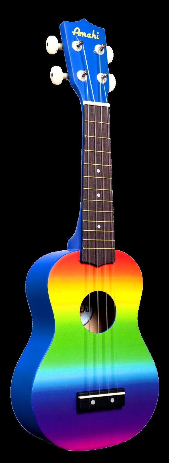 Amahi DDUK1 Rainbow Uke, Soprano