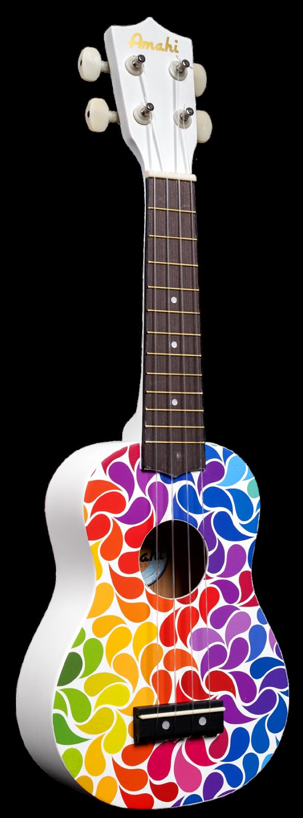 Amahi DDUK3 Rainbow Flower Ukulele, Soprano
