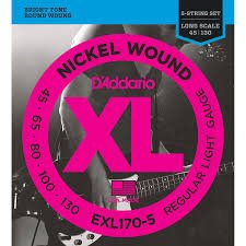 D'Addario EXL1705 Nickel Round Wound 5 String Electric Bass Strings