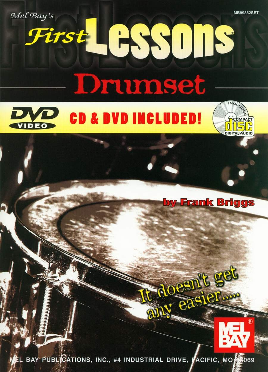 First Lessons Drumset Book/CD/DVD Set