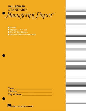 Standard Manuscript Paper