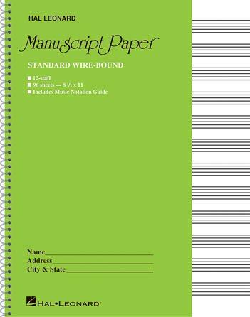 Spiral Bound Manuscript Paper