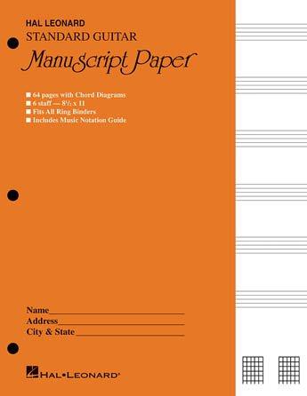 Standard Guitar Manuscript Paper