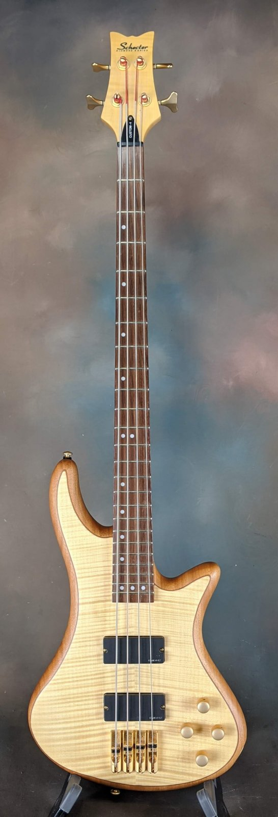 Used Schecter Custom 4 Electric Bass