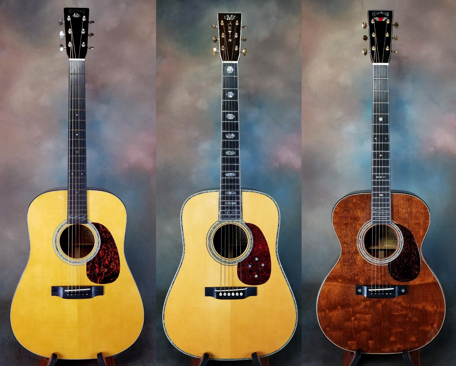 Crosby, Stills & Nash Trio of Signature Martin Guitars