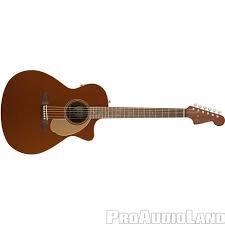Fender Newporter Player Acoustic - Rustic Copper