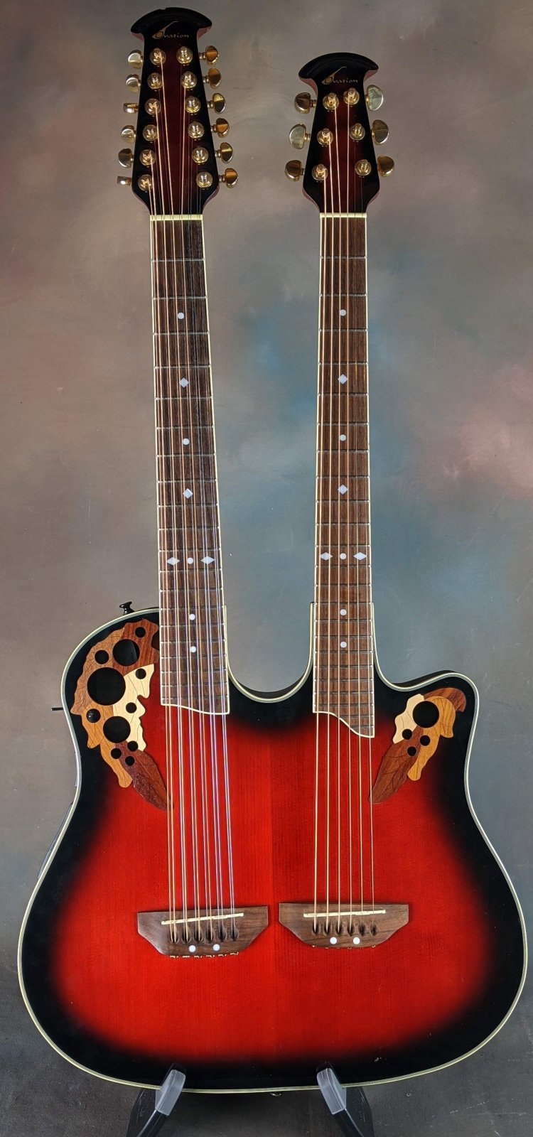 Used Ovation Celebrity CSD225 6/12 String Doubleneck!