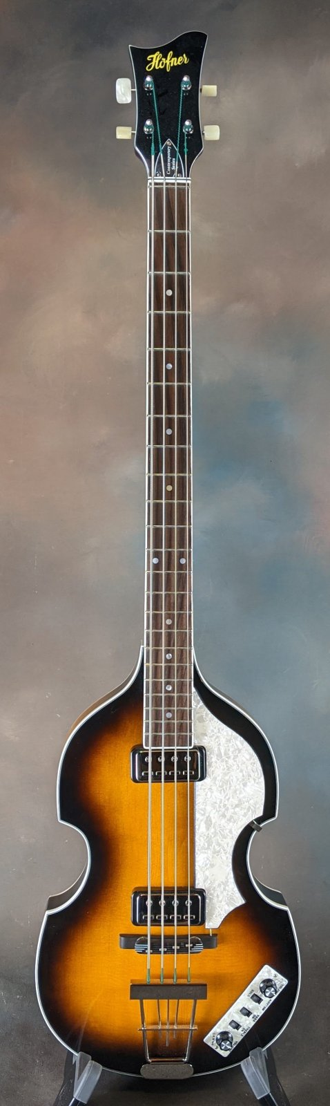 Hofner HCT500/1-SB Contemporary Violin Bass with Hardshell Case