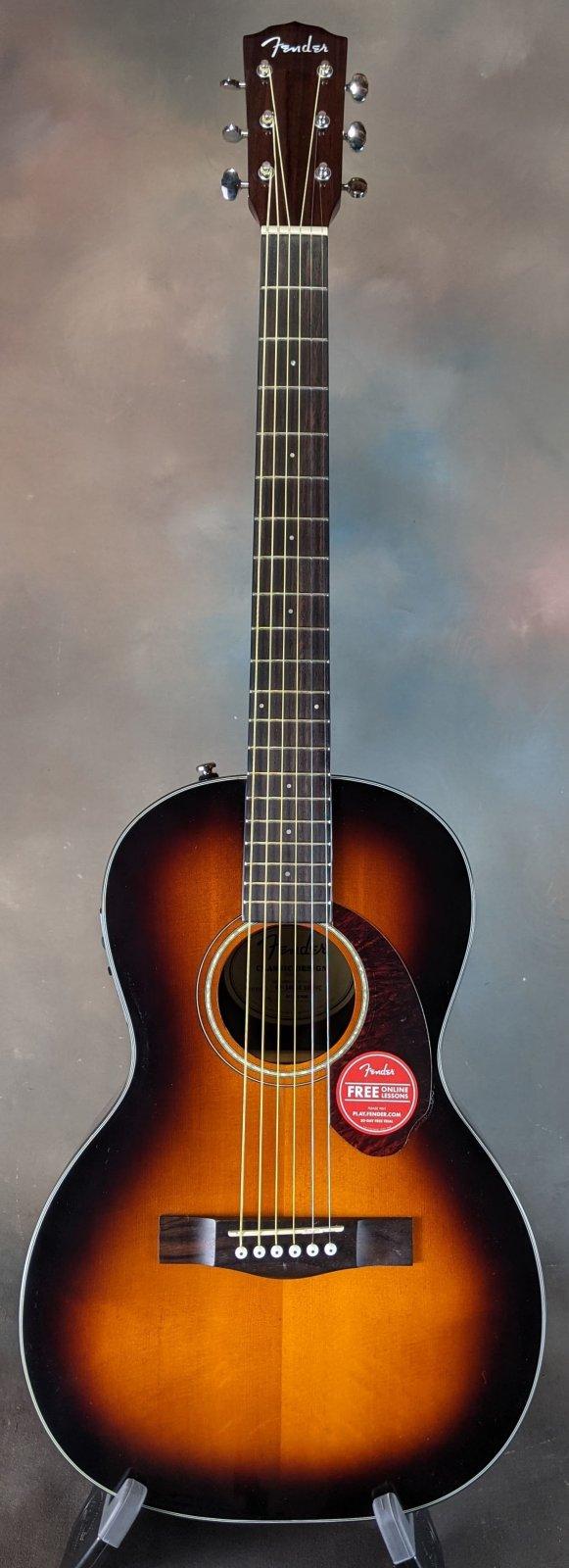 Fender CP-140SE Parlor Guitar w/ Fishman Presys Pickup, Sunburst, w/ Hardshell Case