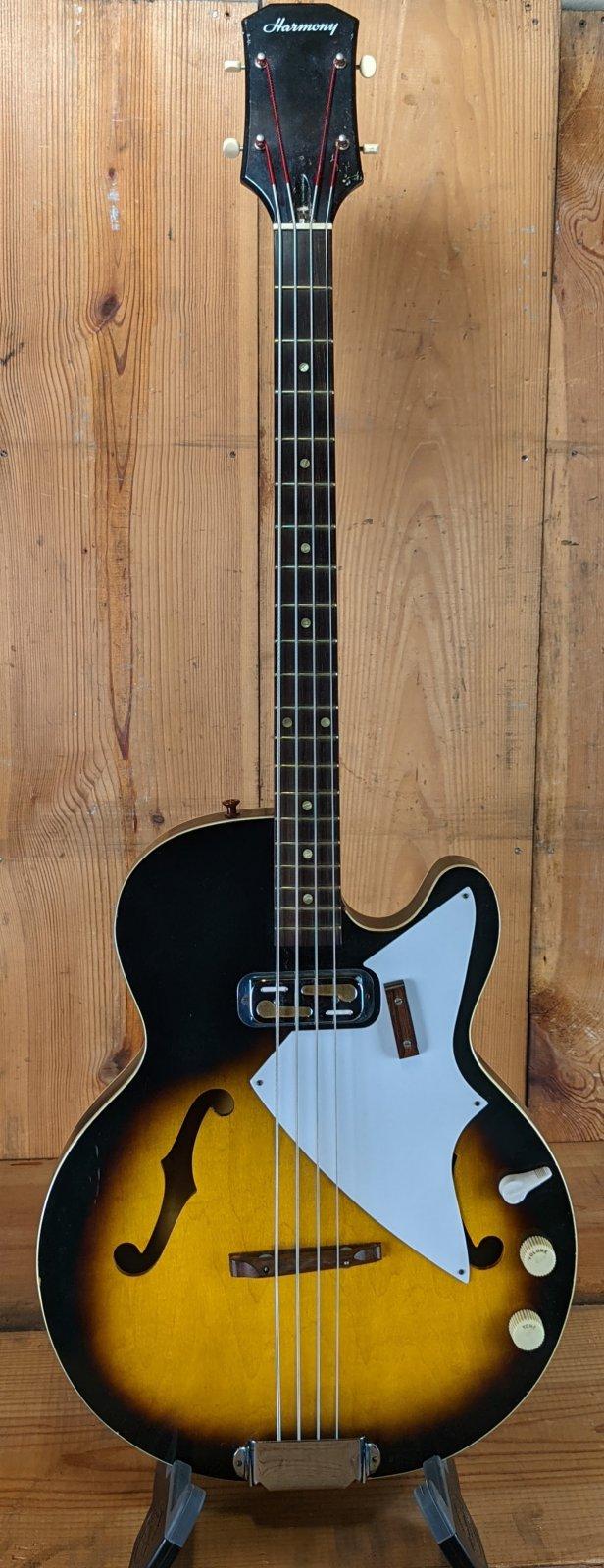 1962 Harmony H22 Hollowbody Electric Bass